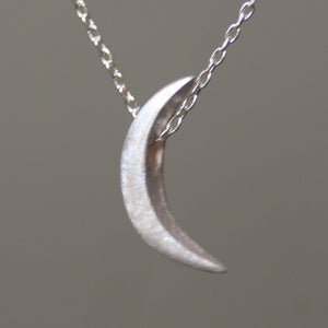 "Crescent Moon Necklace in Sterling Silver necklaces,symbols crescent-moon-necklace-in-sterling-silver 16"",17"",18"""