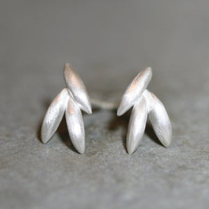 Triple Seed Stud Earrings in Sterling Silver