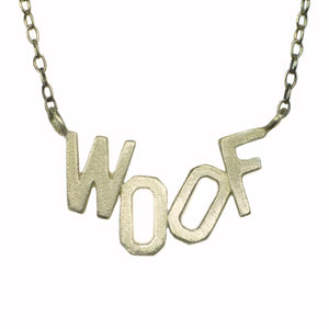 WOOF Necklace in 10K Gold with 14K Gold Chain