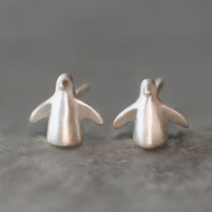 Penguin Stud Earrings Sterling Silver
