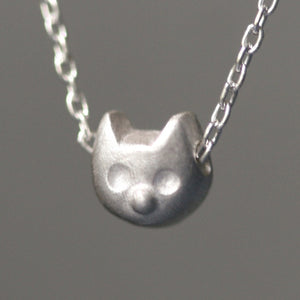 "Kitty Necklace in Sterling Silver animal,necklaces kitty-necklace-in-sterling-silver 16"",17"",18"""