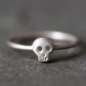 Baby Skull Ring in Sterling Silver rings,HALLOWEEN,skulls baby-skull-ring-in-sterling-silver 4,4.5,5,5.5,6,6.5,7,7.5,8,8.5,9,9.5