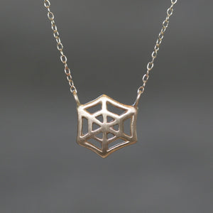 Web Necklace in 14K Gold