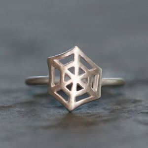 Web Ring in Sterling Silver