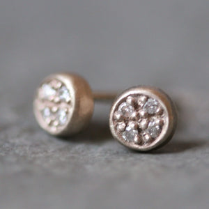 Marisa Stud Earrings in 14K Gold with Diamonds