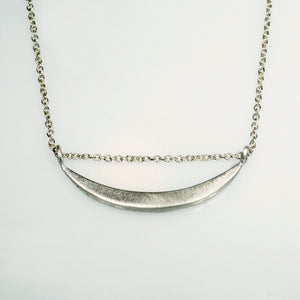 "Sideway Crescent Moon Necklace necklace sideway-crescent-moon-necklace 14"" / Sterling Silver,15"" / Sterling Silver,16"" / Sterling Silver,17"" / Sterling Silver,18"" / Sterling Silver"