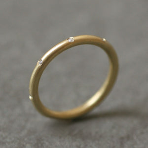 8 Diamond 14K Gold Ring