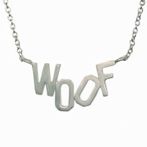 "Woof Necklace in Sterling Silver NEW Woof and Meow,animal,necklaces woof-necklace-in-sterling-silver 16"",17"",18"",15"""