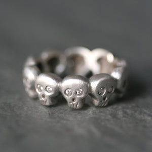 Baby Skull Band Ring in Sterling Silver with Diamonds skulls,HALLOWEEN,rings,for men baby-skull-band-ring-in-sterling-silver-with-diamonds 4,4.5,5,5.5,6,6.5,7,7.5,8,8.5,9,9.5,2,2.5,3,3.5,10,10.5,11,11.5,12