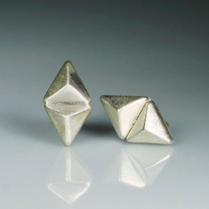Double Triangle Pyramid Stud Earrings