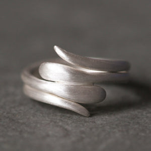 Double Snake Ring in Sterling Silver