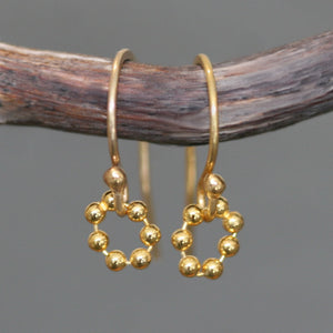 Tiny Beaded Circle Earrings in Gold Plate nature/organic,earrings tiny-beaded-circle-earrings-in-gold-plate Default Title