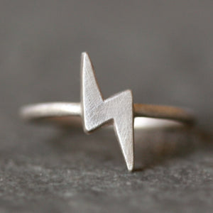 Lightning Bolt Ring in Sterling Silver