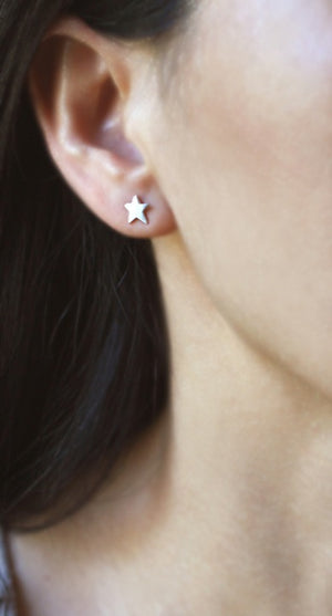 Star Stud Earrings in Sterling Silver earrings,symbols star-stud-earrings-in-sterling-silver Default Title