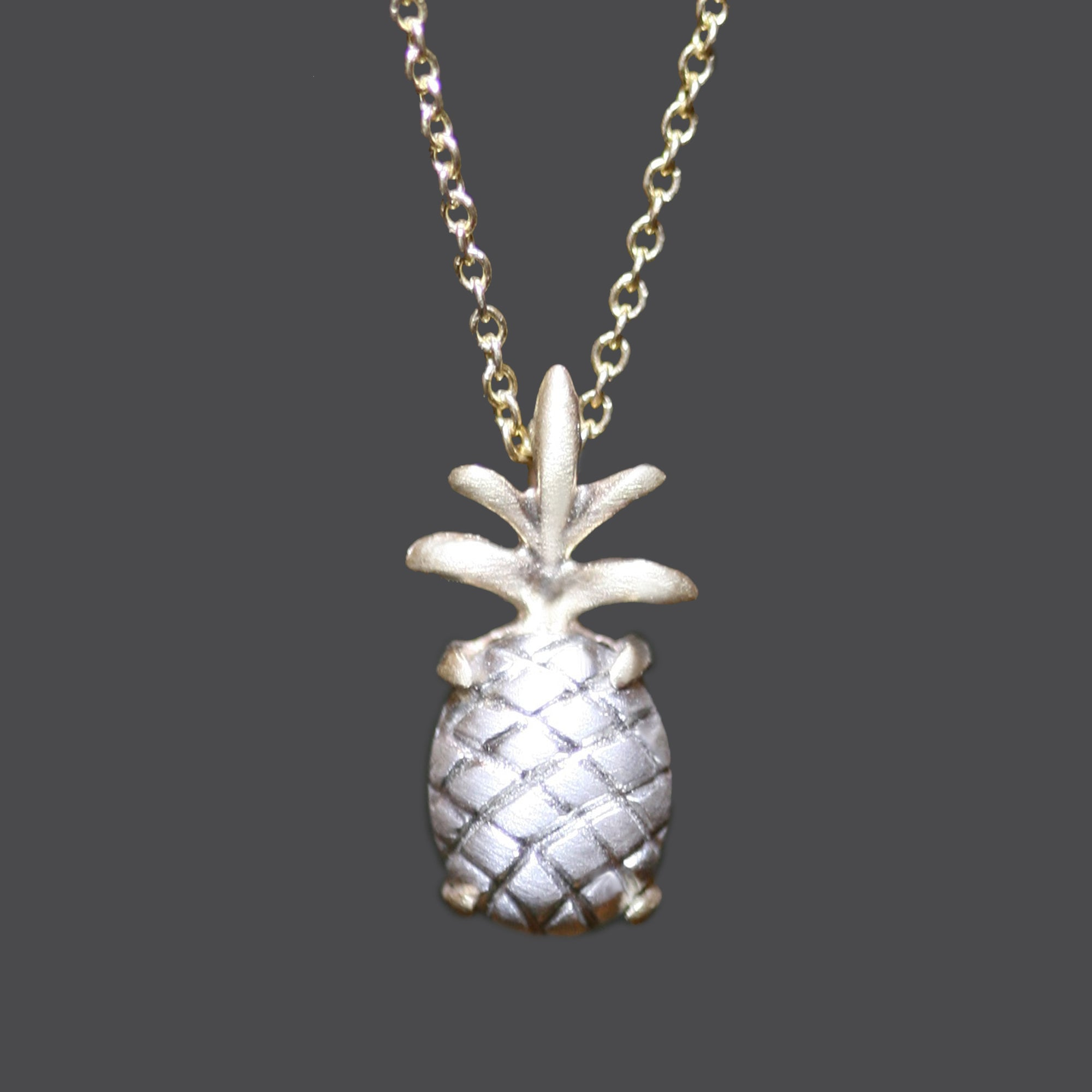 rosa products rose gold vila pineapple necklace silver elegant friendship