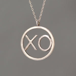 XO Pendant in Sterling Silver
