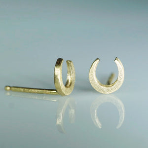 Mini Horseshoe Stud Earrings