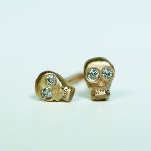 Mini Skull Stud Earrings earrings mini-skull-stud-earrings Sterling Silver / No Stone,Sterling Silver / Diamonds,Sterling Silver / Rubies,10K Pink / No Stone,10K Pink / Diamonds,10K Pink / Rubies,10K Yellow / No Stone,10K Yellow / Diamonds,10K Yellow / Rubies,14K Pink / No Stone,14K Pink / Diamonds,14K Pink / Rubies,14K Yellow / No Stone,14K Yellow / Diamonds,14K Yellow / Rubies