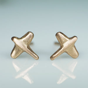 Mini Plane Stud Earrings