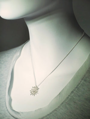 "Seed Flower Necklace seed-flower-necklace Sterling Silver / 14"",Sterling Silver / 15"",Sterling Silver / 16"",Sterling Silver / 17"",Sterling Silver / 18"",Sterling Silver / 19"",Sterling Silver / 20"""