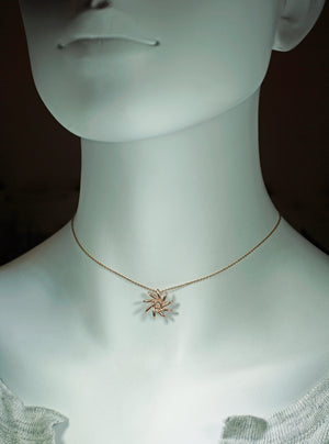 Seed Pinwheel Necklace