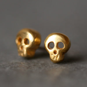 Baby Skull Earrings in 18K Gold Plate skulls,earrings,HALLOWEEN baby-skull-earrings-in-18k-gold-plate Default Title