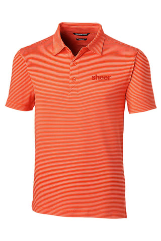 Men's Forge Polo Pencil Stripe Tailored Fit