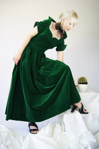 1930's Emerald Green Dress - ULTRA-CAT