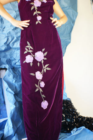 1930's Gorgeous Velvet Dress - ULTRA-CAT