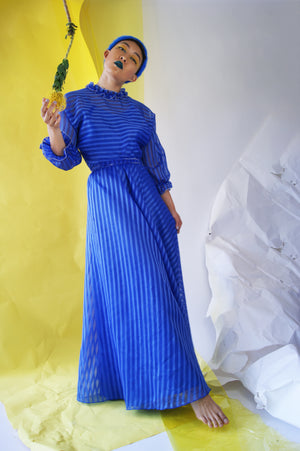 1970's Vintage Maxi Dress - ULTRA-CAT