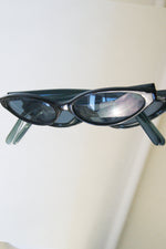 Vintage Slim Navy Blue Cat Eye Sunglasses - ULTRA-CAT