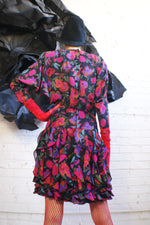80's Mini Floral Dress - ULTRA-CAT