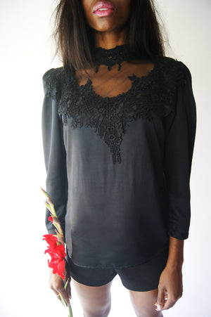 1980's Lace Blouse - ULTRA-CAT