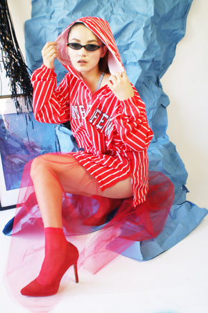 Vintage Chicago Bulls Hoodie With Tulle Skirt - ULTRA-CAT