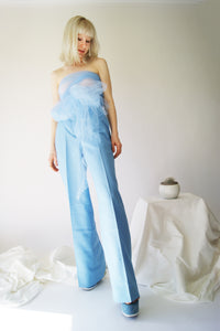 Sky Blue High Waisted Vintage Pants - ULTRA-CAT