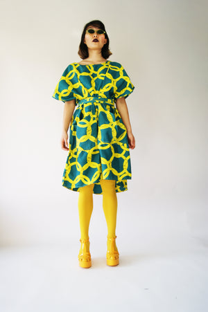 Bold Print 1970's Dress - ULTRA-CAT