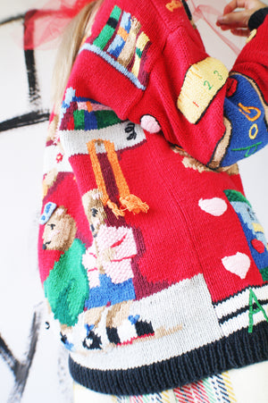 Novelty Teacher Vintage Cardigan - ULTRA-CAT