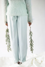 Silk Eileen Fisher Seafom High Waisted Vintage Pants - ULTRA-CAT