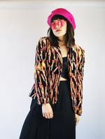 Paul Smith Women Velvet Vintage Blazer With Matches And Fire Print - ULTRA-CAT