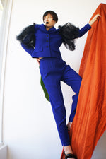 Vintage Redesigned Avant Garde Purple Suit - ULTRA-CAT