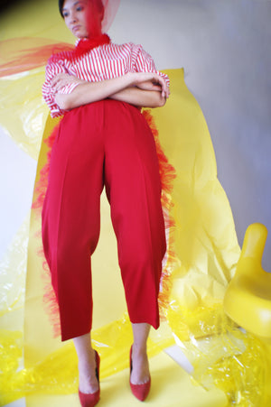 Vintage Redesigned Tapered Red pants - ULTRA-CAT