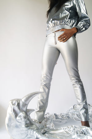 1980's Glam Rock Silver Pants - ULTRA-CAT