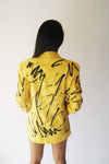 Hand Painted Vintage Linen Jacket - ULTRA-CAT