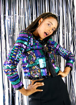 Vintage 1980's Sparkly Sequined Jacket - ULTRA-CAT