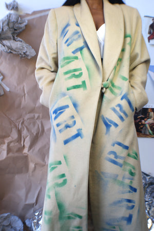"Vintage ""Art Sucks"" Wool Coat - ULTRA-CAT"