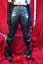 """Crying Eyes"" Real Leather  Pants - ULTRA-CAT"