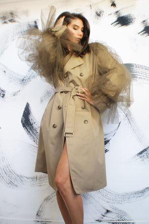 Avant Garde Restructured Coat With Exaggerated Puff Sleeves - ULTRA-CAT