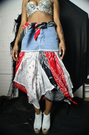 Unique Y2K Bandanna Skirt - ULTRA-CAT