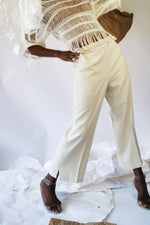 Vintage Cotton Beige Culottes - ULTRA-CAT