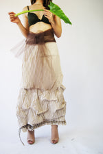 Unique Vintage Maxi Skirt Similar To The Vivienne Westwood aesthetics - ULTRA-CAT